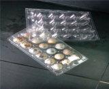 bandejas plásticas do ovo dos furos 24PCS no projeto de dobramento