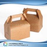 Rectángulo de empaquetado plegable ambiental del papel de Kraft para la torta del alimento (xc-fbk-045A)