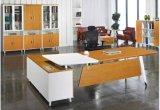 둥근 금속 관 강철 대통령 관리 사무소 테이블 책상 (NS-ND048)