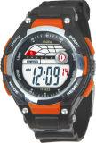 Plastikfall-Gummiband-Schweizer Bewegungs-Digital-Chronograph-verschiedene Farben-Kursteilnehmer-Uhren