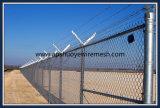 Frontière de sécurité PVC-Enduite de maillon de chaîne de fil