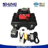 Giuntatrice di fibra ottica d'impionbatura dei motori di Shinho X-97 4 e di riscaldamento automatica di fusione