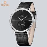 Ocio reloj de pulsera de cuarzo con la calidad del cuero genuino 72185