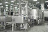 Terminar a lavagem de frasco da cerveja que enche e que tampa a máquina 3in1