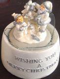 Polyresin decoración del hogar artesanía Bola de Nieve del globo del agua