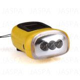 Lanterna elétrica branca do dínamo do diodo emissor de luz do ABS barato do preço
