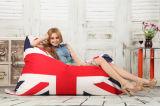 不精な生命豆袋のソファーの長方形カバーだけが付いている大きい豆袋のための安い屋外の豆袋
