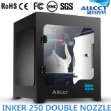 Impresora grande de Fdm 3D de la boquilla del doble de la talla del edificio de Allct Inker250