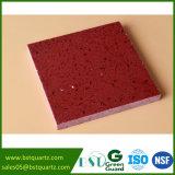 人工的な輝きの赤い水晶石の平板