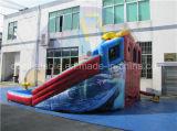 3つの車線のスライド、販売のための使用された膨脹可能な水スライド