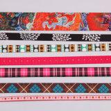 Kundenspezifisches Firmenzeichen-Jacquardwebstuhl gesponnenes Nylon-Polyester-Farbband für Beutel