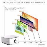 2017 nuevo proyector portable del micr3ofono de la radio 1080P