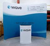 Les stands de drapeau d'Exhibtion de tissu sautent vers le haut la promotion d'étalage annonçant le mur d'intérieur d'étalage de tissu de salon