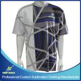 De douane ontwierp de Volledige T-shirt van de Sporten van de Sublimatie met de Emblemen van Sponsors