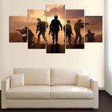 5パネルHDはキャンバスMc156で絵画キャンバスプリント芸術の居間の軍隊ポスターのための現代ホーム装飾の壁の芸術映像を印刷した
