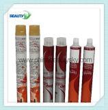 Tube compressible en aluminium vide de empaquetage de crème de main de couleur des cheveux de produit de beauté