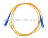 Pigtail da fibra da ligação em ponte da fibra do cabo de correção de programa da fibra óptica