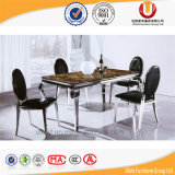 스테인리스 프레임 대리석 식당 가구 테이블 (UL-DC336)