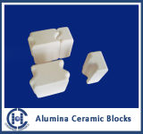 95% Al2O3 Interlocking Ceramic Blocks pour Friction Resistant