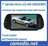 "7 "" TFT LCD Car Rear View/Rearview Mirror Monitor met USB/SD/MP5 M705c"