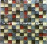 Mosaïque en pierre mélangée à la mosaïque en verre pour l'usage de mur