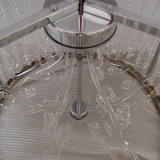 De moderne Lamp van de Tegenhanger van het Kristal van het Roestvrij staal van het Hotel Decoratieve Cilindrische