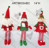 """14 """" decoración del duende Sitter-3asst-Christmas del muñeco de nieve de H Santa"""