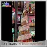 Árvore de Natal espiral da luz da corda do diodo emissor de luz do fio enorme da decoração do evento