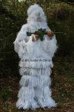 Traje blanco como la nieve al por mayor, juego de Ghillie de la ropa de Cmouflage, juego de la caza