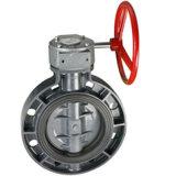 Válvula de mariposa del PVC para ANSI JIS Dn50-Dn300 estándar del estruendo del agua