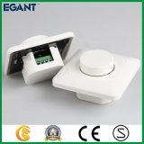 Interruptor blanco del amortiguador del color LED del estilo europeo