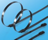 Edelstahl-Kugel-Verschluss-Kabelbinder mit Beschichtung