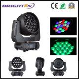 Zoom mobile de lavage de lumières d'exposition des têtes 19*15W de RGBW Prolights