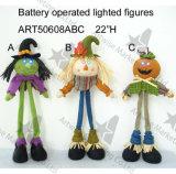""""""" iluminación de H 22 encima de la decoración de la Pumpkinman-Cosecha de la bruja del espantapájaros"""