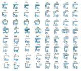 Guarnizione di gomma per il trattore a cingoli, KOMATSU, Collegamento-Cinghia, Volvo