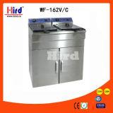Оборудование гостиницы оборудования кухни машины еды оборудования доставки с обслуживанием BBQ оборудования хлебопекарни Ce баков шкафа 2 Fryer цифров электрические глубокие (WF-162V/C) двойное