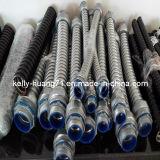 フランジの端の波形のステンレス鋼の適用範囲が広い編みこみのホースの管の管