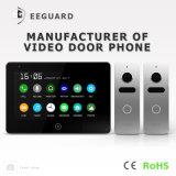 Seguridad casera de la pantalla táctil de la memoria 7 pulgadas de vídeo Doorphone del intercomunicador