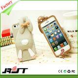 Cubierta del silicón del conejo del diseño del teléfono móvil 3D para el iPhone 6 6s