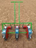 3개의 줄을%s 가진 수동 옥수수 파종기 비료 재배자를 뿌리는 3개의 바퀴