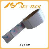 Escritura de la etiqueta de código de barras anti auta-adhesivo de la alarma del hurto