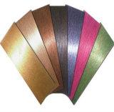 Hoja de acero inoxidable colorida