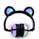 Cuffia d'ardore delle orecchie dell'orso degli indicatori luminosi della batteria senza fili di Chargable
