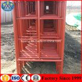 Andamio de acero pintado fabricante de la escala del marco de Guangdong Foshan H para la venta