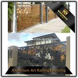 Laser que corta la cerca perforada decorativa del jardín del metal de hoja