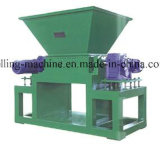 Machine en plastique de défibreur de sac de Wooven de double arbre