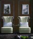 Sofá luxuoso clássico do francês do vintage do couro do hotel de Chesterfield