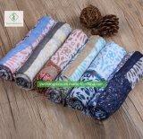 100% Viskose-Polka-Plaid gedruckte Schal-Form-Dame Moslem Scarf