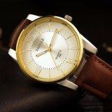 Mann-Uhr-echtes Leder-Geschäfts-Luxuxuhr des Großhandelspreis-H348 für Männer