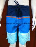 Praia da tela de 4 maneiras/Shorts secos da placa desgaste de Swmming rapidamente para o homem